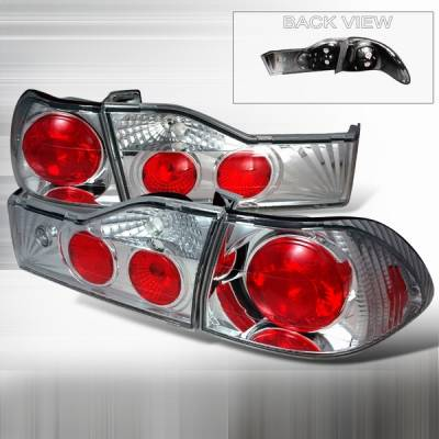 Headlights & Tail Lights - Tail Lights - DiscoSpec-D Tuning - Honda Accord 4DR DiscoSpec-D Tuning Chrome Altezza Taillights - LT-ACD014-YD