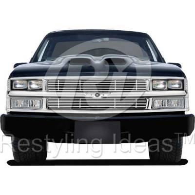 Grilles - Custom Fit Grilles - Restyling Ideas - Chevrolet C1500 Pickup Restyling Ideas Billet Grille