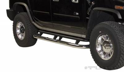 Suv Truck Accessories - Running Boards - Putco - Hummer H2 Putco Boss Bar Side Steps - Wheel to Wheel - 47101