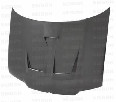 Jetta - Hoods - Seibon - Volkswagen Jetta Seibon ER Style Carbon Fiber Hood - HD0004VWJE-ER