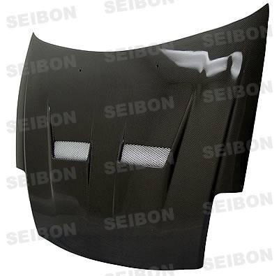 Eclipse - Hoods - Seibon - Mitsubishi Eclipse Seibon XT Style Carbon Fiber Hood - HD0005MITEC-XT