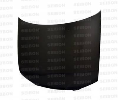 Sentra - Hoods - Seibon - Nissan Sentra Seibon EVO Style Carbon Fiber Hood - HD0203NSSEN-EVO