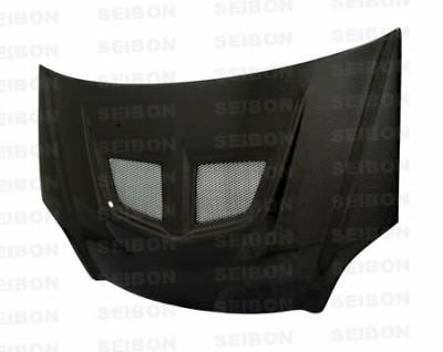Civic HB - Hoods - Seibon - Honda Civic Seibon EVO Style Carbon Fiber Hood - HD0204HDCVSI-EVO
