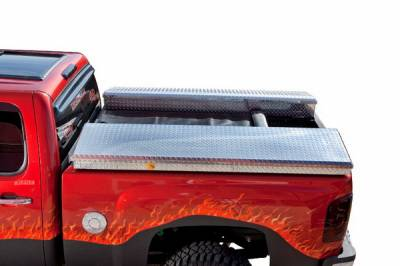 Suv Truck Accessories - Tonneau Covers - Deflecta-Shield - Ford Superduty Deflecta-Shield Tonneau Cover & Storage Box Kit - 596108