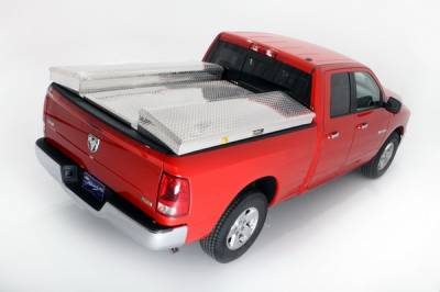 Suv Truck Accessories - Tonneau Covers - Deflecta-Shield - Ford Superduty Deflecta-Shield Tonneau Cover & Storage Box Kit - 597108