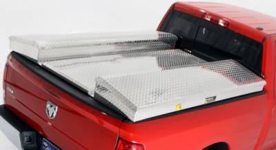 Suv Truck Accessories - Tonneau Covers - Deflecta-Shield - Ford Superduty Deflecta-Shield Tonneau Cover & Storage Box Kit - 597109