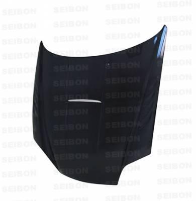 Tiburon - Hoods - Seibon - Hyundai Tiburon Seibon SC Style Carbon Fiber Hood - HD0305HYTB-SC