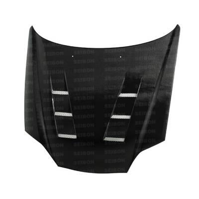 Tiburon - Hoods - Seibon - Hyundai Tiburon Seibon TS Style Carbon Fiber Hood - HD0305HYTB-TS