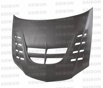 Lancer - Hoods - Seibon - Mitsubishi Lancer Seibon CWII Style Dry Carbon Fiber Hood - HD0305MITEVO8-CWII-DRY
