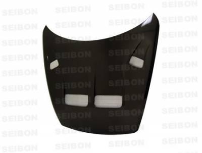 RX8 - Hoods - Seibon - Mazda RX-8 Seibon KS Style Carbon Fiber Hood - HD0405MZRX8-KS