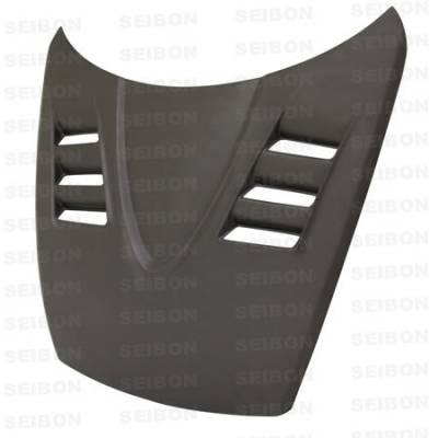 RX8 - Hoods - Seibon - Mazda RX-8 Seibon TS Style Dry Carbon Fiber Hood - HD0405MZRX8-TS-DRY