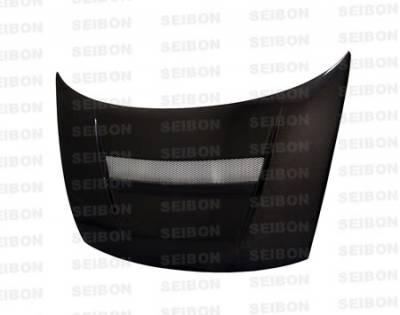 Civic 2Dr - Hoods - Seibon - Honda Civic 2DR Seibon VSII Style Carbon Fiber Hood - HD0607HDCV2D-VSII
