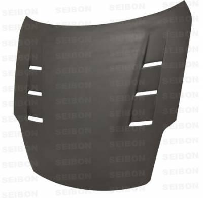 350Z - Hoods - Seibon - Nissan 350Z Seibon TS Style Dry Carbon Fiber Hood - HD0708NS350-TS-DRY