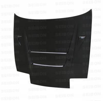 180SX - Hoods - Seibon - Nissan 180SX Seibon DVII Style Carbon Fiber Hood - HD8994NS240-DVII