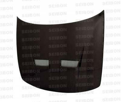 Integra 4Dr - Hoods - Seibon - Acura Integra Seibon XT Style Carbon Fiber Hood - HD9093ACIN-XT