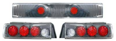 Headlights & Tail Lights - Tail Lights - Matrix - Euro Taillights with Carbon Fiber Housing - 9842
