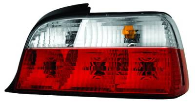Headlights & Tail Lights - Tail Lights - In Pro Carwear - BMW 3 Series 2DR IPCW Taillights - Crystal Eyes - Crystal Diamond Red & Clear - 1 Pair - 3403C