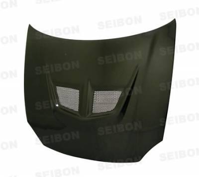 Del Sol - Hoods - Seibon - Honda Del Sol Seibon EVO Style Carbon Fiber Hood - HD9397HDDS-EVO