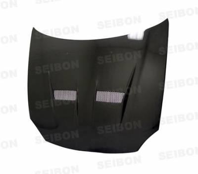 Del Sol - Hoods - Seibon - Honda Del Sol Seibon VSII Style Carbon Fiber Hood - HD9397HDDS-VSII