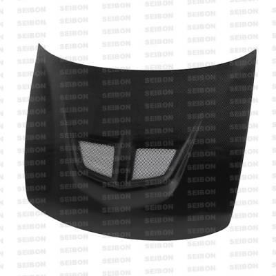Integra 4Dr - Hoods - Seibon - Acura Integra Seibon EVO Style Carbon Fiber Hood - HD9401ACIN-EVO