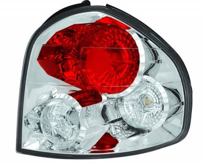 Headlights & Tail Lights - Tail Lights - In Pro Carwear - Hyundai Santa Fe IPCW Taillights - Crystal Eyes - 1 Pair - CWT-1202C2