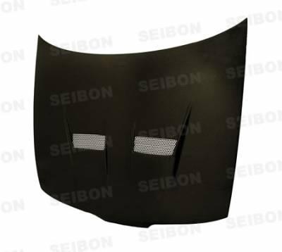 Integra 4Dr - Hoods - Seibon - Acura Integra Seibon VSII Style Carbon Fiber Hood - HD9401ACITR-VSII