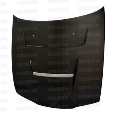 240SX - Hoods - Seibon - Nissan 240SX Seibon DV Style Carbon Fiber Hood - HD9596NS240-DV