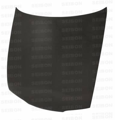240SX - Hoods - Seibon - Nissan 240SX Seibon OEM Style Carbon Fiber Hood - HD9596NS240-OE