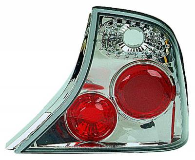 Headlights & Tail Lights - Tail Lights - In Pro Carwear - Ford Focus 4DR IPCW Taillights - Crystal Eyes - 1 Pair - CWT-534C2