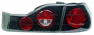 Headlights & Tail Lights - Tail Lights - In Pro Carwear - Honda Accord 4DR IPCW Taillights - Crystal Eyes - 4PC - CWT-712B2