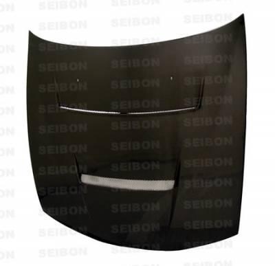 240SX - Hoods - Seibon - Nissan 240SX Seibon DV Style Carbon Fiber Hood - HD9798NS240-DV