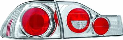Headlights & Tail Lights - Tail Lights - In Pro Carwear - Honda Accord 4DR IPCW Taillights - Crystal Eyes - 4PC - CWT-712C2