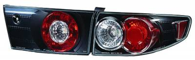 Headlights & Tail Lights - Tail Lights - In Pro Carwear - Honda Accord 4DR IPCW Taillights - Crystal Eyes - 4PC - CWT-714B2