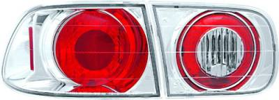 Headlights & Tail Lights - Tail Lights - In Pro Carwear - Honda Civic 2DR & 4DR IPCW Taillights - Crystal Eyes - 4PC - CWT-727C3