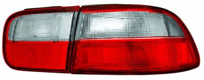 Headlights & Tail Lights - Tail Lights - In Pro Carwear - Honda Civic 2DR & 4DR IPCW Taillights - Crystal Eyes - 1PC - CWT-727R