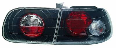 Headlights & Tail Lights - Tail Lights - In Pro Carwear - Honda Civic HB IPCW Taillights - Crystal Eyes - 1PC - CWT-728B2