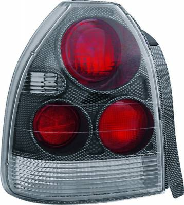 Headlights & Tail Lights - Tail Lights - In Pro Carwear - Honda Civic HB IPCW Taillights - Crystal Eyes - 1 Pair - CWT-730CF