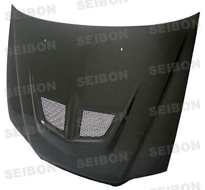 Accord 2Dr - Hoods - Seibon - Honda Accord 2DR Seibon EVO Style Carbon Fiber Hood - HD9802HDAC2D-EVO