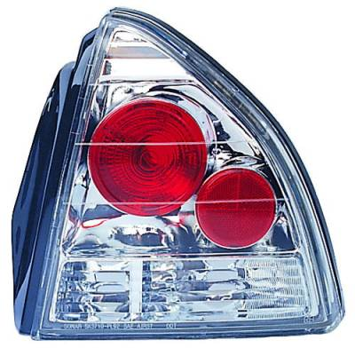 Headlights & Tail Lights - Tail Lights - In Pro Carwear - Honda Prelude IPCW Taillights - Crystal Eyes - 1 Pair - CWT-738C2