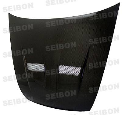 Accord 2Dr - Hoods - Seibon - Honda Accord 2DR Seibon VSII Style Carbon Fiber Hood - HD9802HDAC2D-VSII