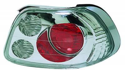 Headlights & Tail Lights - Tail Lights - In Pro Carwear - Honda Del Sol IPCW Taillights - Crystal Eyes - 1 Pair - CWT-740C2
