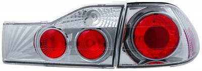 Headlights & Tail Lights - Tail Lights - In Pro Carwear - Honda Accord 4DR IPCW Taillights - Crystal Eyes - 1PC - CWT-741C2