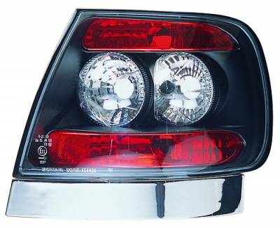 In Pro Carwear - Audi A4 IPCW Taillights - Crystal Eyes - Bermuda Black - 1 Pair - CWT-8301B2