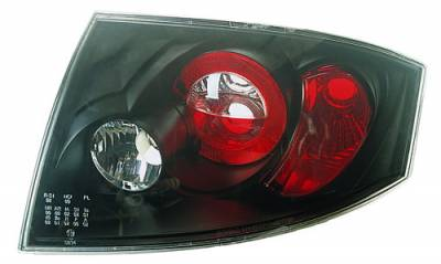 In Pro Carwear - Audi TT IPCW Taillights - Crystal Eyes - Bermuda Black - 1 Pair - CWT-8302B2