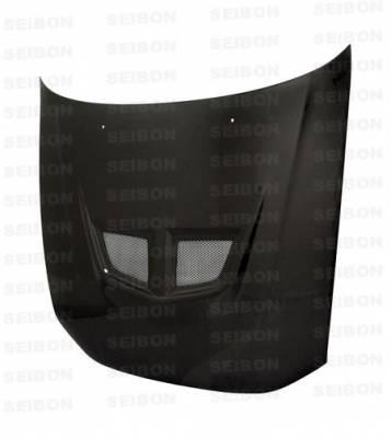 Galant - Hoods - Seibon - Mitsubishi Galant Seibon EVO Style Carbon Fiber Hood - HD9903MITGA-EVO