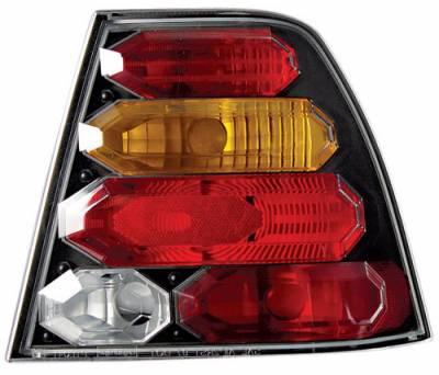 Headlights & Tail Lights - Tail Lights - In Pro Carwear - Volkswagen Jetta IPCW Taillights - Crystal Eyes - 1 Pair - CWT-CE3034CBA