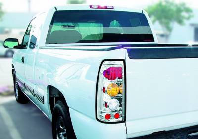 Headlights & Tail Lights - Tail Lights - In Pro Carwear - GMC Sierra IPCW Taillights - Crystal Eyes - 1 Pair - CWT-CE3039CA