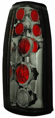 Headlights & Tail Lights - Tail Lights - In Pro Carwear - Cadillac Escalade IPCW Taillights - Crystal Eyes - Platinum Smoke - 1 Pair - CWT-CE303CS