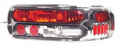 Headlights & Tail Lights - Tail Lights - In Pro Carwear - Chevrolet Caprice IPCW Taillights - Crystal Eyes - Black Trim - 1 Pair - CWT-CE316C