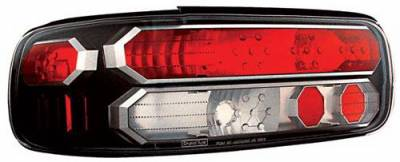 Headlights & Tail Lights - Tail Lights - In Pro Carwear - Chevrolet Caprice IPCW Taillights - Crystal Eyes - Black Trim - 1 Pair - CWT-CE316CB